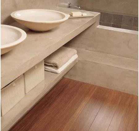 Pavimento in bamboo anche in bagno
