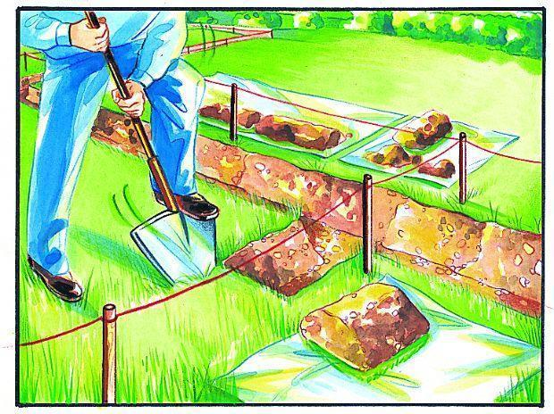Impianto di irrigazione interrata: canalette alloggio tubazione