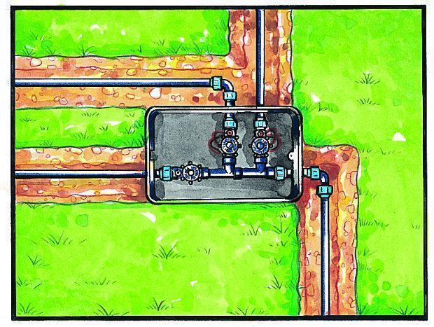 Alloggiamento elettrovalvole impianto di irrigazione interrata
