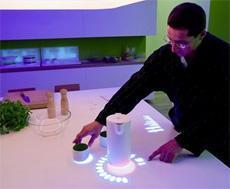 Green Cuisine di Philips: sistema touch screen.