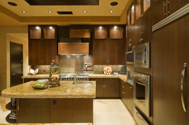 Idee Punti Luce Soggiorno : Kitchen with Double Wall Oven