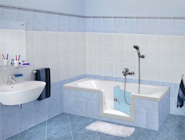 Sovrapposizione vasche da bagno - Vasca bagno con sportello ...