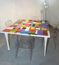 Collezione Alu+Resin Table di Neroacciaio