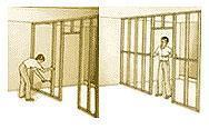 Fissaggio montanti e rinforzi parete in cartongesso