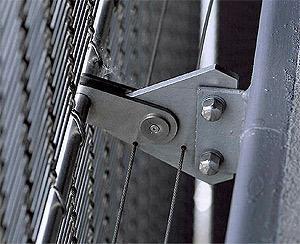 Ancoraggio tele mettaliche come frangisole: Fixiersystem für Fassadenverkleidungen aus Metall