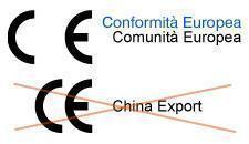 Differenza Marcatura CE e China Export