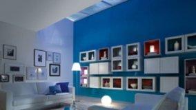 Casa in blu