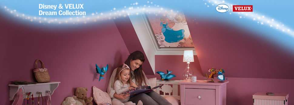 Tende da interni oscuranti collezione Disney & Velux