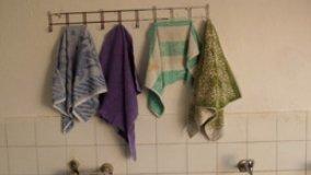 Porta asciugamani in cristallo