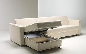 Il comfort dei divani letto: Aurora con penisola contenitore