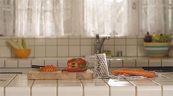 Particolare di cucina in muratura