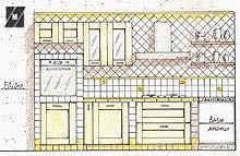 Progetto di una cucina in muratura