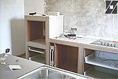 Costruzione di una cucina con struttura legno