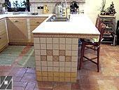 Cucina con struttura legno