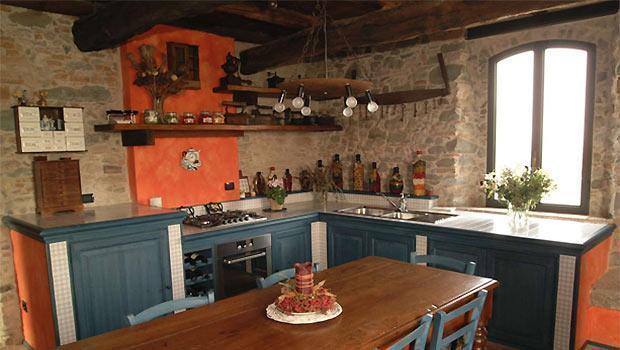 Cucine in muratura con struttura in mattoni speciali