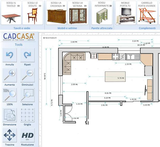 Progetta monolocale con CADCASA
