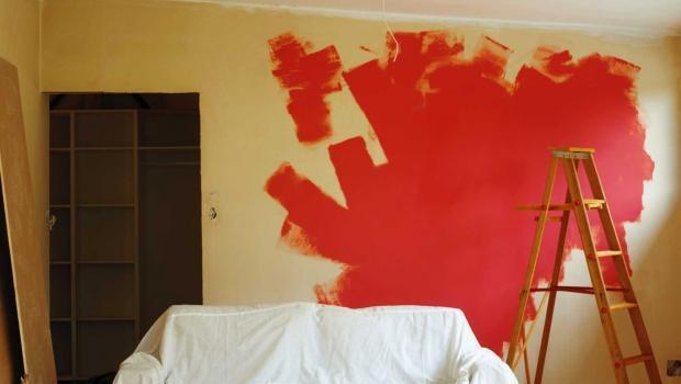 Tinteggiatura Parete Colorata: Pittura camera da letto come dipingere ...