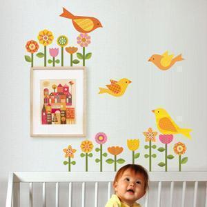 Petit Collage_adesivi stoffa bimbi_bird setup