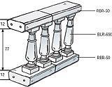 Montaggio semplice balaustra