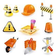 elementi di lavoro in cantiere