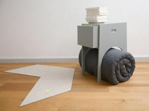 Stay at my Home_Designasyl_comodino con letto, tappeto e lampada incorporati