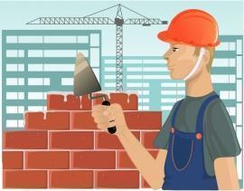 Fase di costruzione di unita' edilizie
