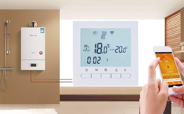 Beok BOT-313 Wi-Fi per caldaia a gas, cronotermostato programmabile, con schermo LCD e app gratuita