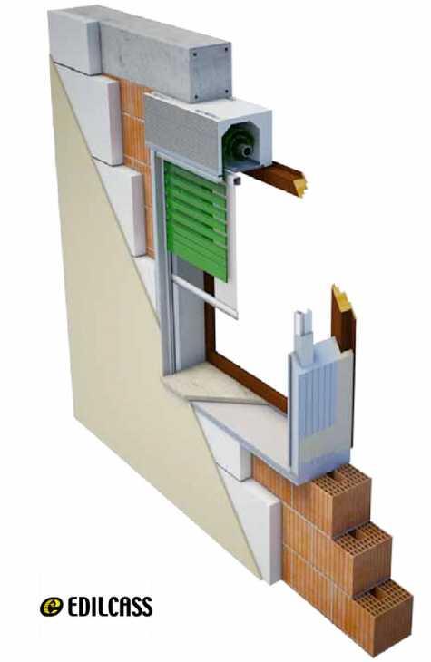 Sistema monoblocco e cassonetto per avvolgibile Edilcass