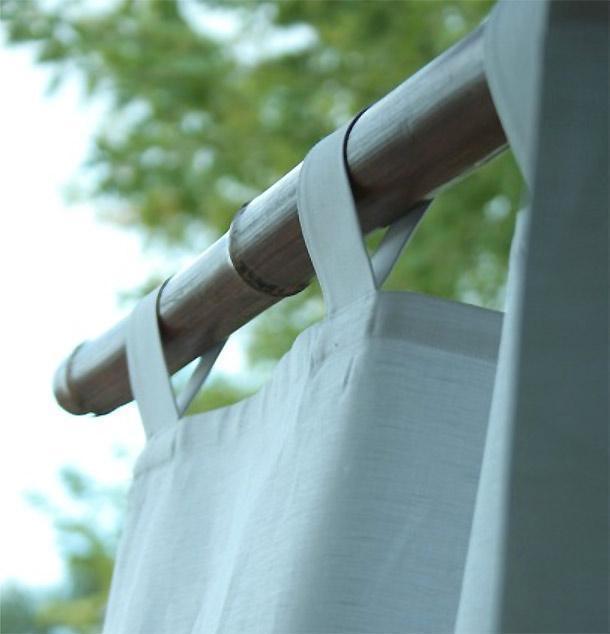 Tenda doccia in lino Purolino