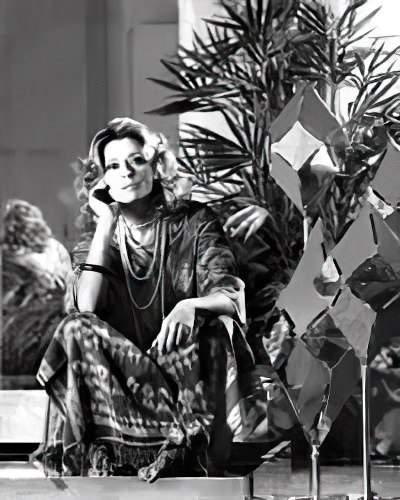 Gabriella Crespi nel 1974 foto di Miussy Werner
