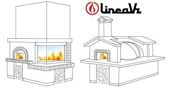 Forni a legna per pizza in casa Linea VZ