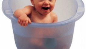 Vasca pratica per il bagnetto