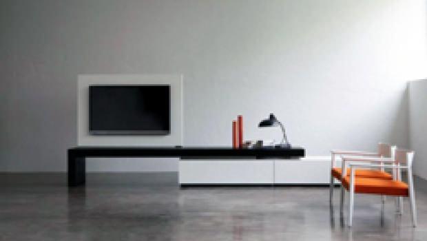 Porta tv a parete per schermo piatto - Mobile tv fai da te ...