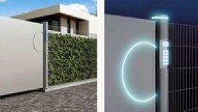Recinzioni e mattoni di vetro luminosi