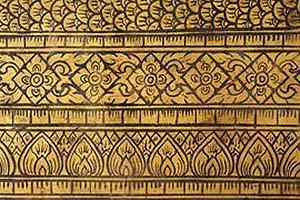 Decorazione con pirografo su legno