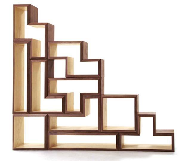 Libreria sottoscala for Coprigradini per scale in legno ikea