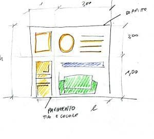 Arredare le pareti: disegno 1