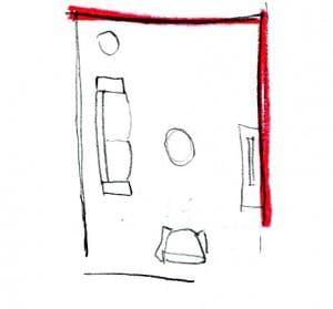 Arredare le pareti: disegno 2