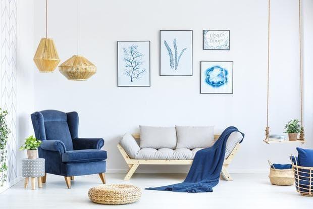 Arredare le pareti in tonalità blu