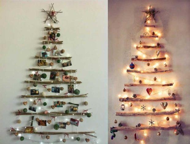 Alberi Di Natale In Legno Addobbati : Albero di natale minimalista