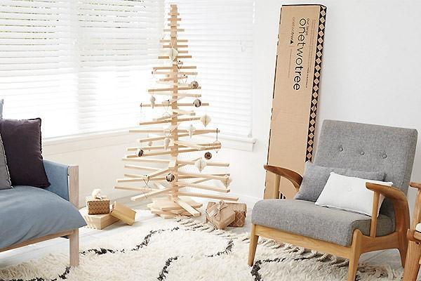 One Two Tree albero di natale minimalista australiano