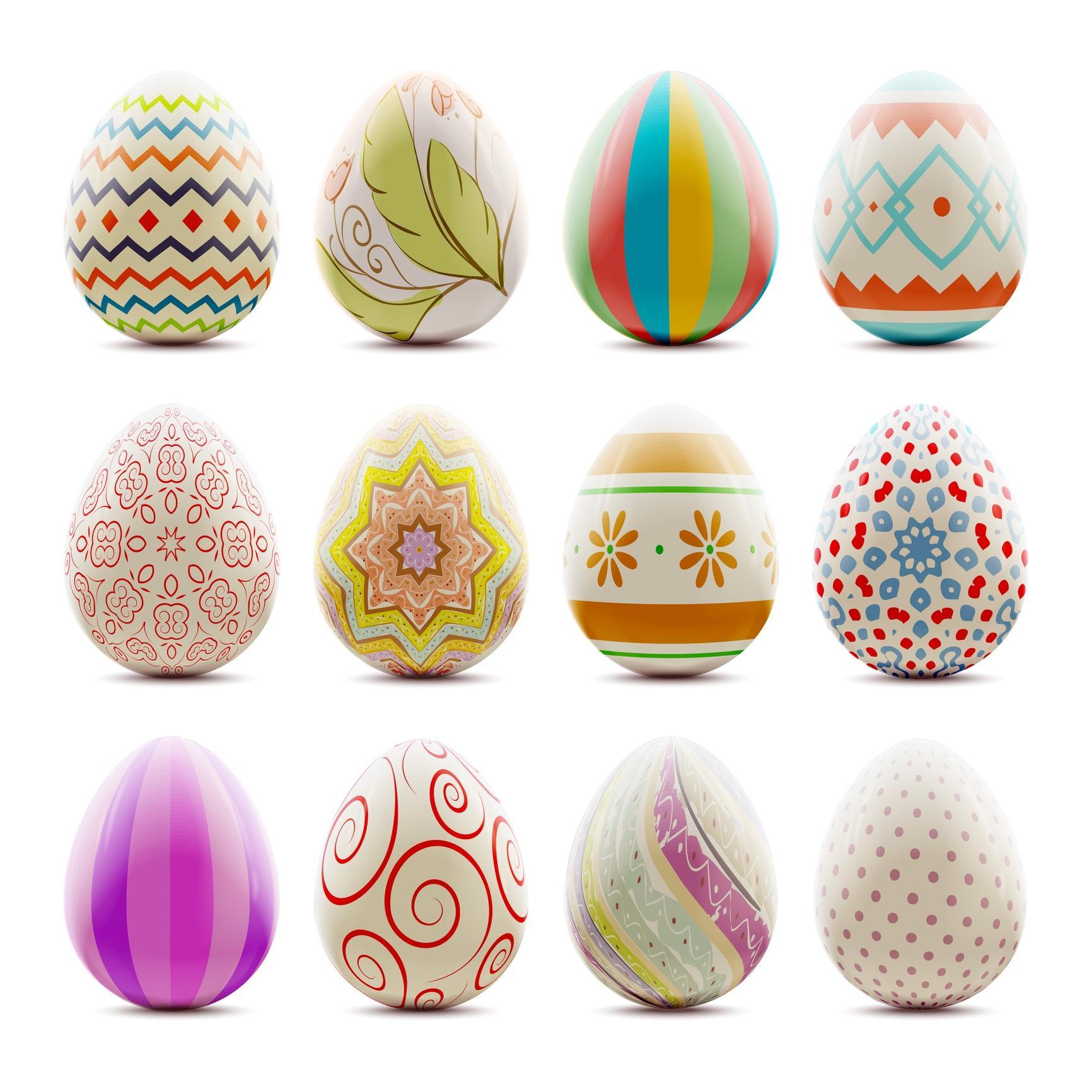 Uova dipinte con tempera per Pasqua
