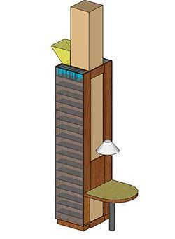 Il pilastri rivestito sui quattro lati