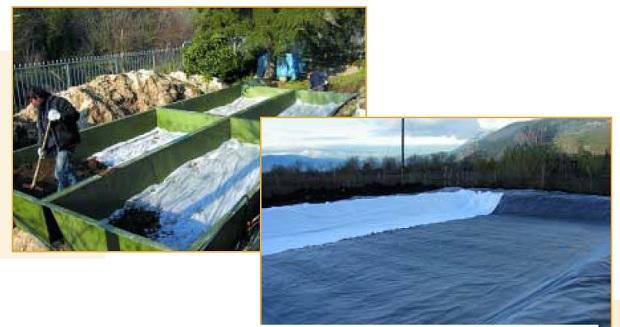 Fitodepurazione acque reflue: impemeabilizzazione bacino di ATD srl