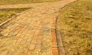 Pavimentazione con autobloccanti