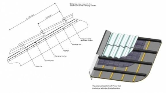 struttura tegola fotovoltaica (da Techo Solar)