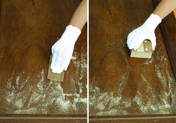 Carteggiatura con carta abrasiva