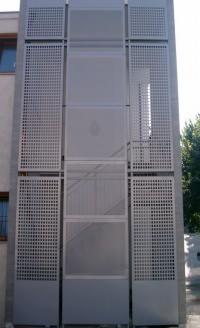 La schermatura di una scala Pannelli Xmetal