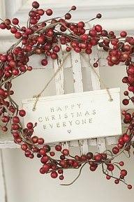 Ghirlanda natalizia con bacche