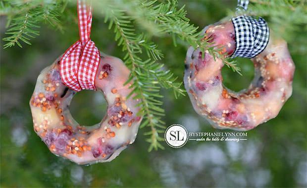 Stephanie Lynn: piccole ghirlande contenenti semi per uccellini